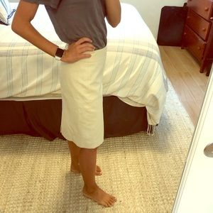 Off white pencil skirt